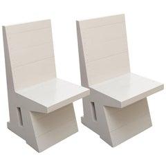 Dom Hans van der Laan Grey Pair of Easy Chairs