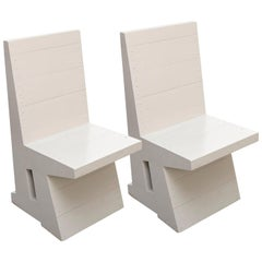 Dom Hans van der Laan Grey Pair of Easy Chairs