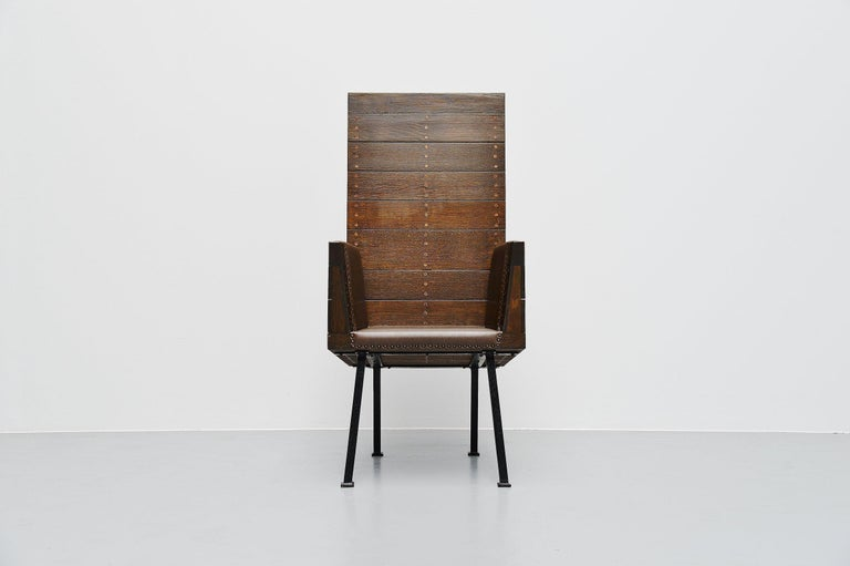 Mid-Century Modern Dom Hans van der Laan High Chair for Town Hall Budel, 1966 For Sale