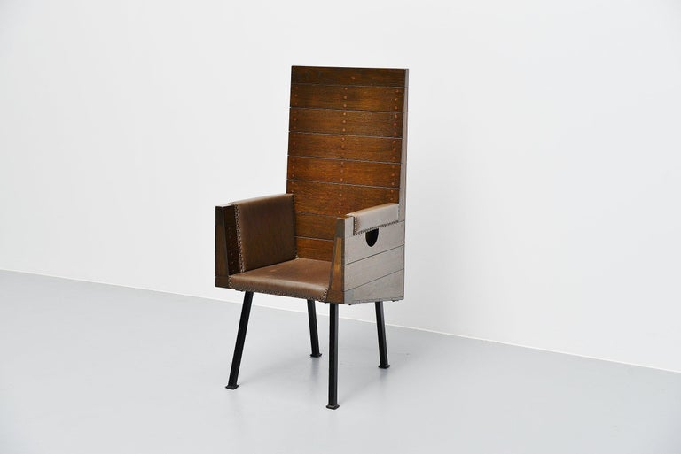 Dutch Dom Hans van der Laan High Chair for Town Hall Budel, 1966 For Sale