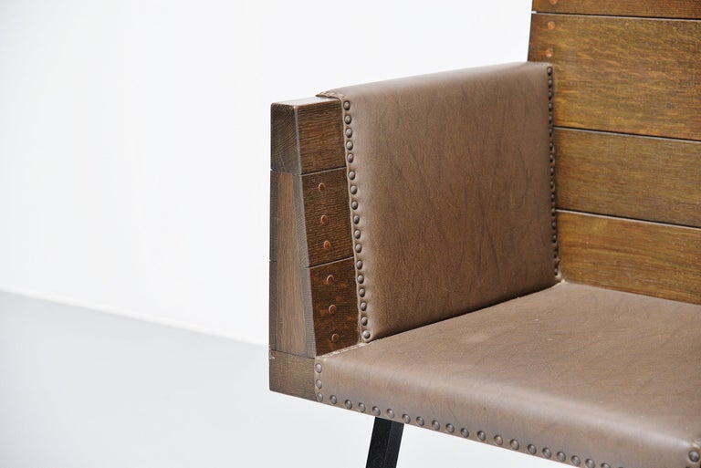Cold-Painted Dom Hans van der Laan High Chair for Town Hall Budel, 1966 For Sale