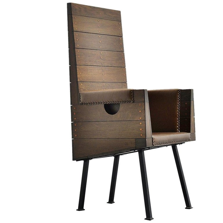 Dom Hans van der Laan High Chair for Town Hall Budel, 1966 For Sale