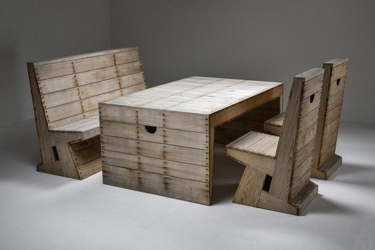 Minimalist Dom Hans van der Laan & Jan De Jong Outdoor Dining Set For Sale