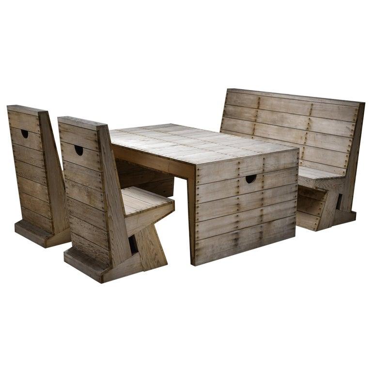 Dom Hans van der Laan & Jan De Jong Outdoor Dining Set For Sale