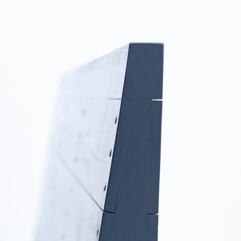 Dom Hans van der Laan Mid-Century Modern Lacquered Blue Rationalist Bench For Sale 8