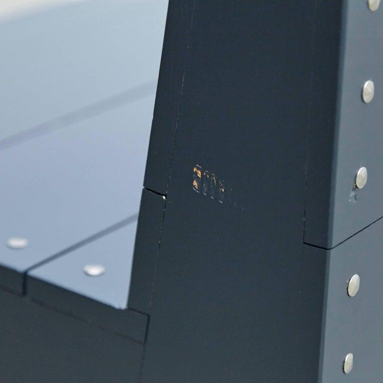Dom Hans van der Laan Mid-Century Modern Lacquered Blue Rationalist Bench For Sale 10