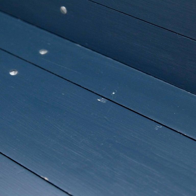 Dom Hans van der Laan Mid-Century Modern Lacquered Blue Rationalist Bench For Sale 14