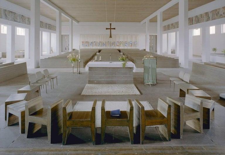 Dom Hans van der Laan Stool for Sint-Willibrorduskerk Almelo, 1964 For Sale 2