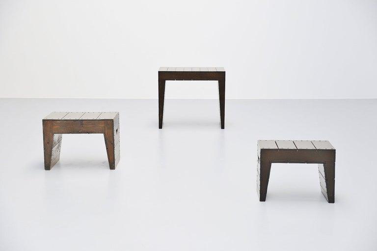 Wood Dom Hans van der Laan Stool for Sint-Willibrorduskerk Almelo, 1964 For Sale