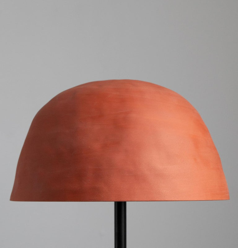 Both decorative and functional, the Dome Table Lamp has a modern, yet organic character adding a sculptural element and soft, relaxed light to any room. Each shade is crafted by hand which gives every piece a unique look. The strong character of