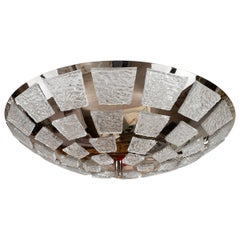 "Dome-form polished nickel ""mosaic"" ceiling fixture"