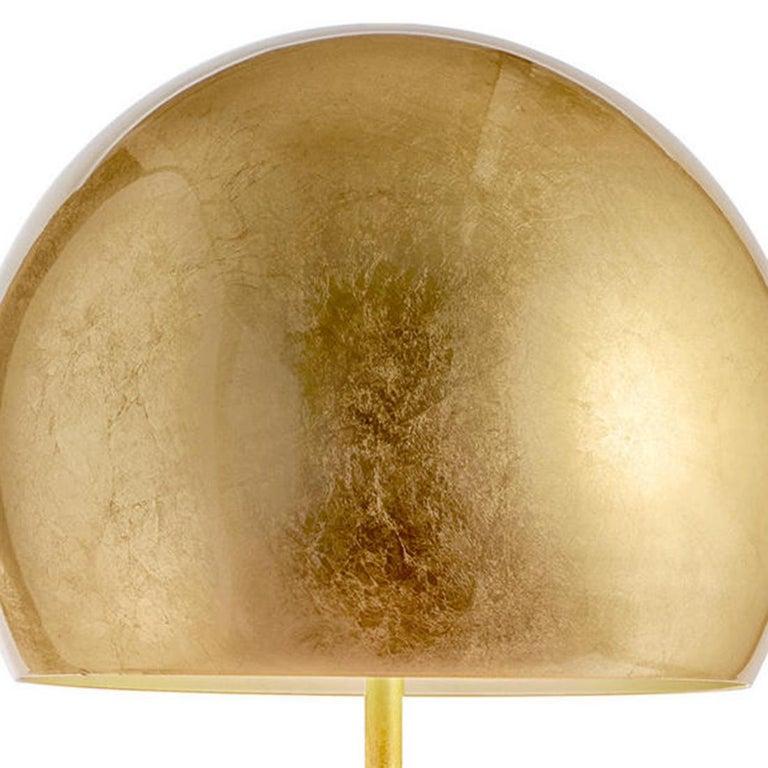 Aluminum Dome Gold Leaf Floor Lamp For Sale