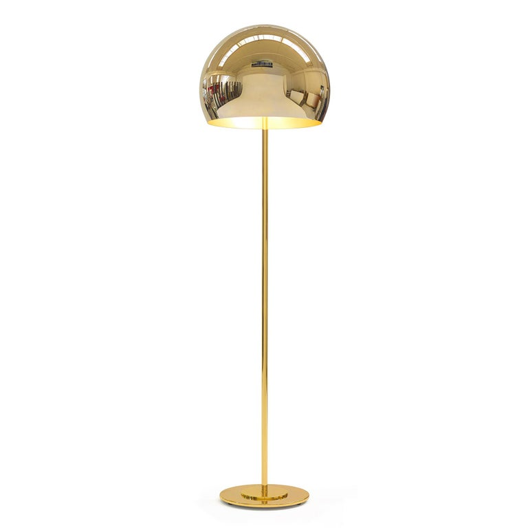 Dome Gold Leaf Floor Lamp For Sale 1