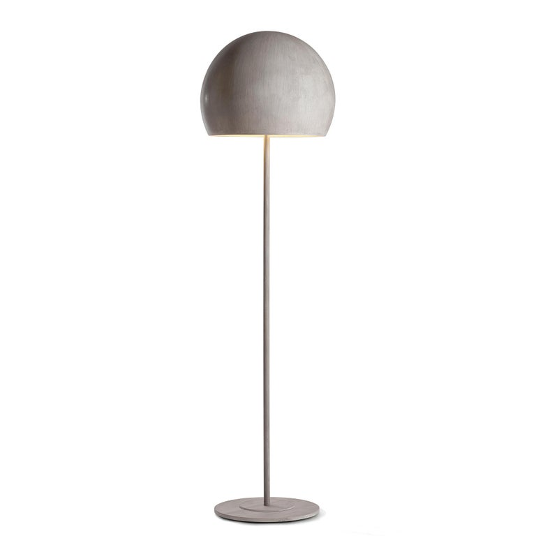 Dome Gold Leaf Floor Lamp For Sale 2