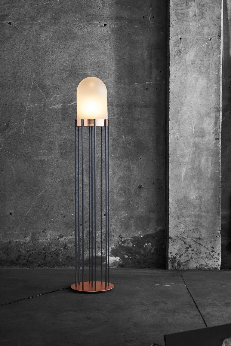 Burnished Dome Lamp by Valerio Sommella for Mingardo For Sale