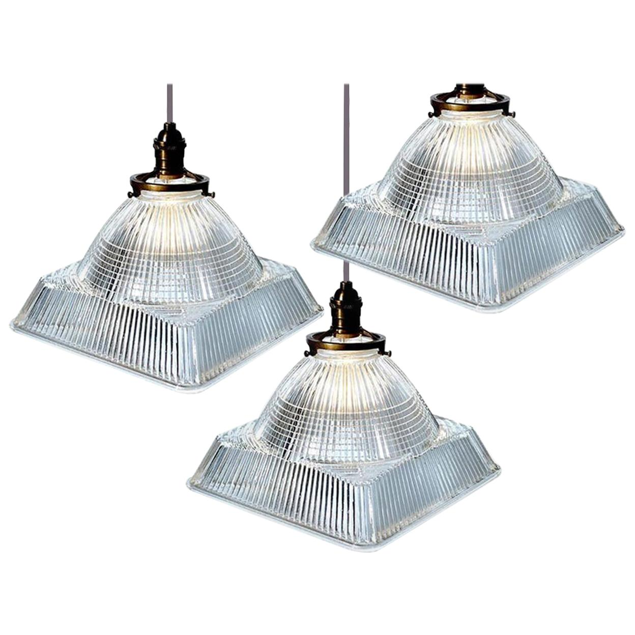 Dome over Square Holophane Pendants