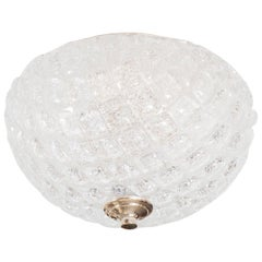 Dome Shaped Frosted Glass Flush Mount