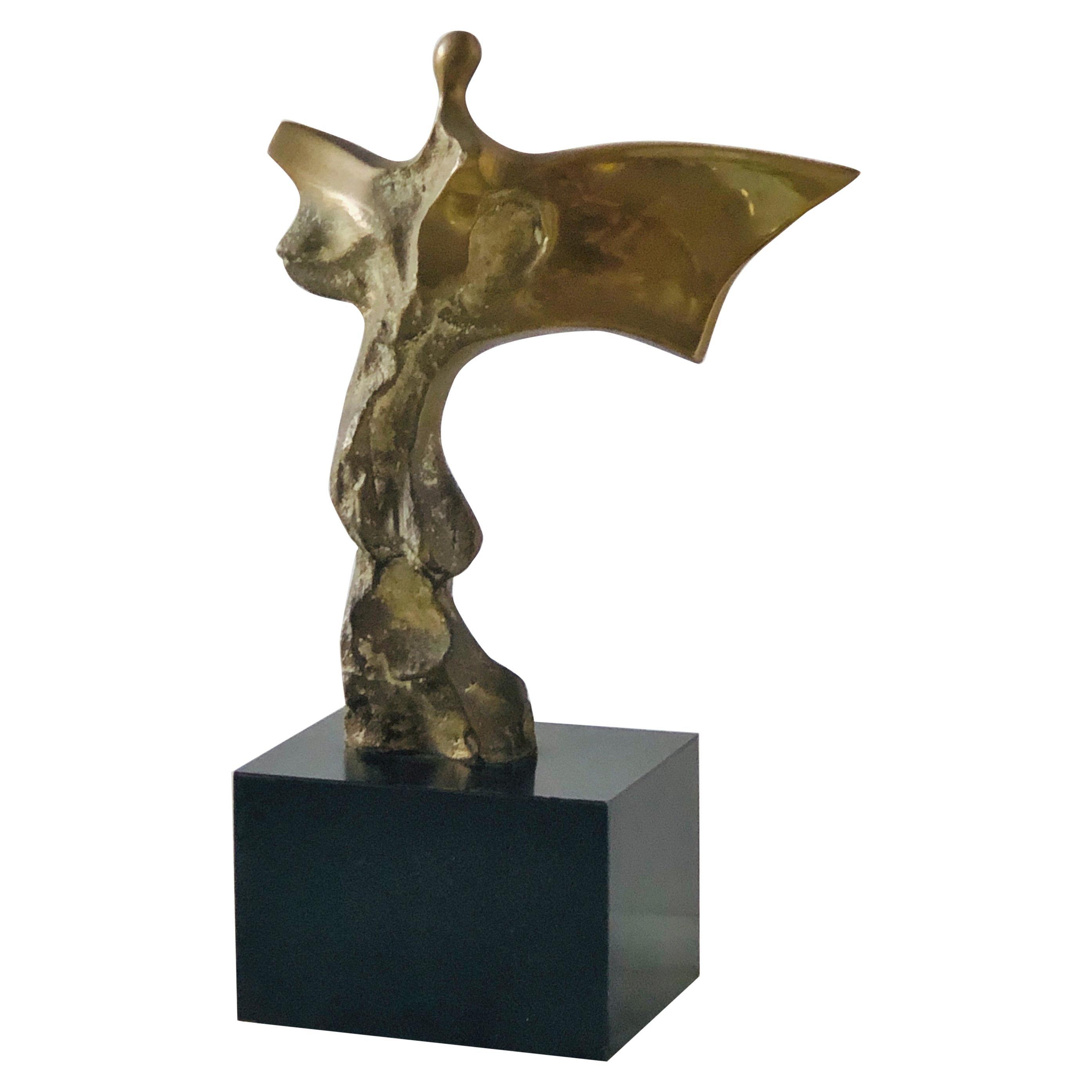 Domenico Calabrone Bronze Sculpture of Figure in Movement
