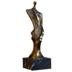 "Domenico Calabrone, ""Miniature"" Sculpture in Bronze on Marble, Brazil, 1970s"