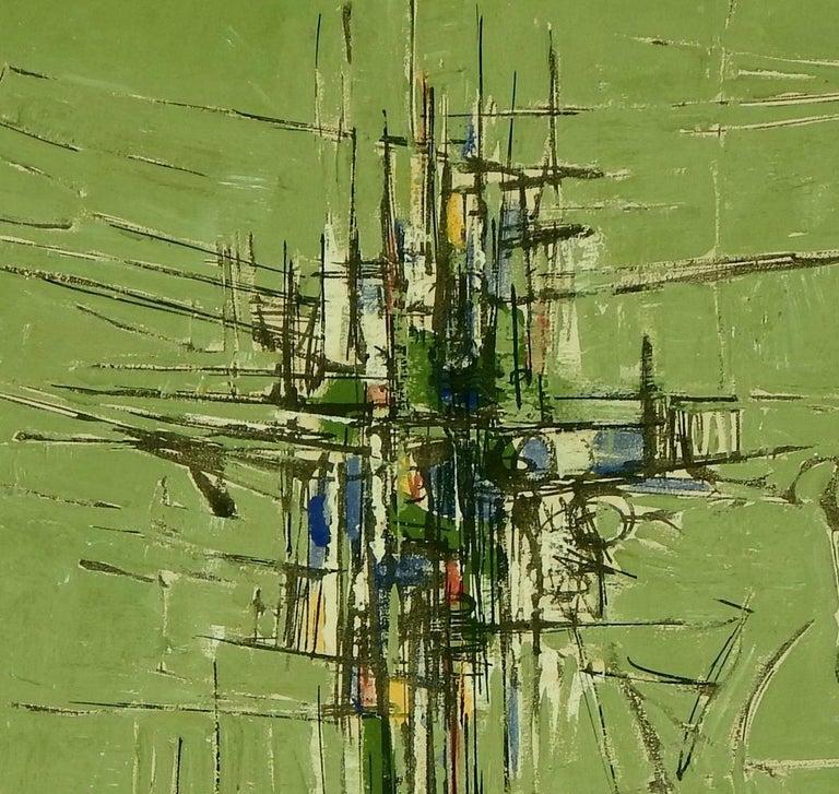 20th Century Domenico Lazzarini Italian/Brazilian Artist, Abstract Modernist Painting For Sale