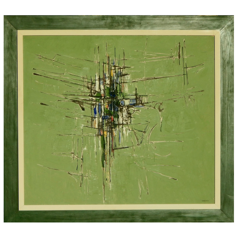 Domenico Lazzarini Italian/Brazilian Artist, Abstract Modernist Painting