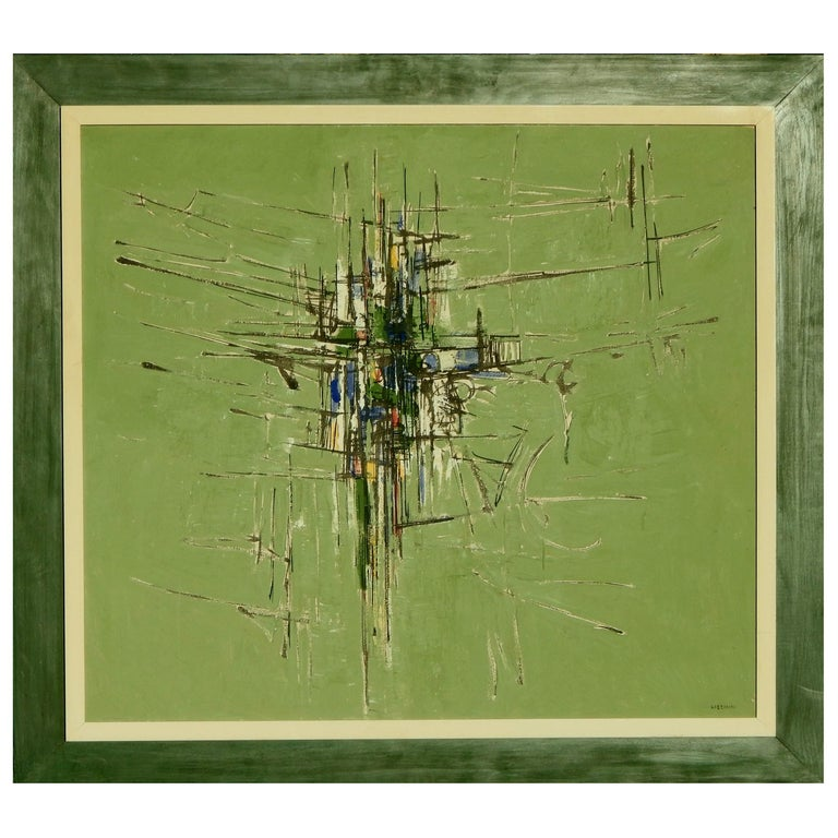 Domenico Lazzarini Italian/Brazilian Artist, Abstract Modernist Painting For Sale