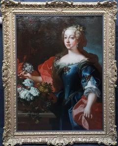 Portrait of Maria Vittoria Queen of Portugal - Italian Old Master oil painting
