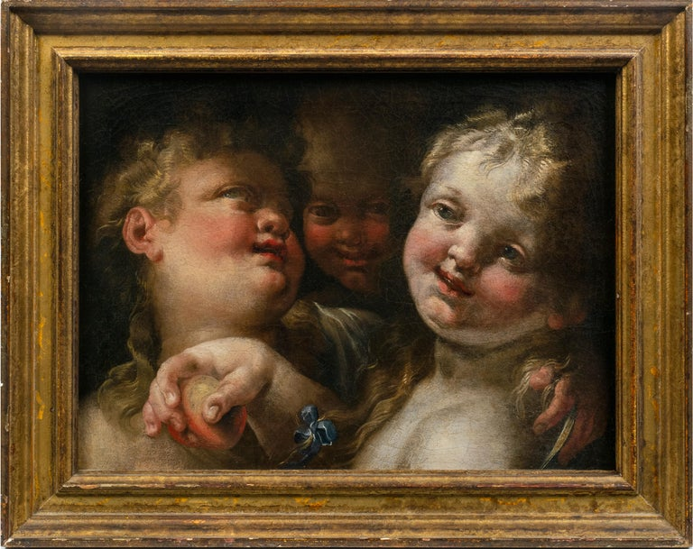 Domenico Piola the Elder Portrait Painting - Three Angels