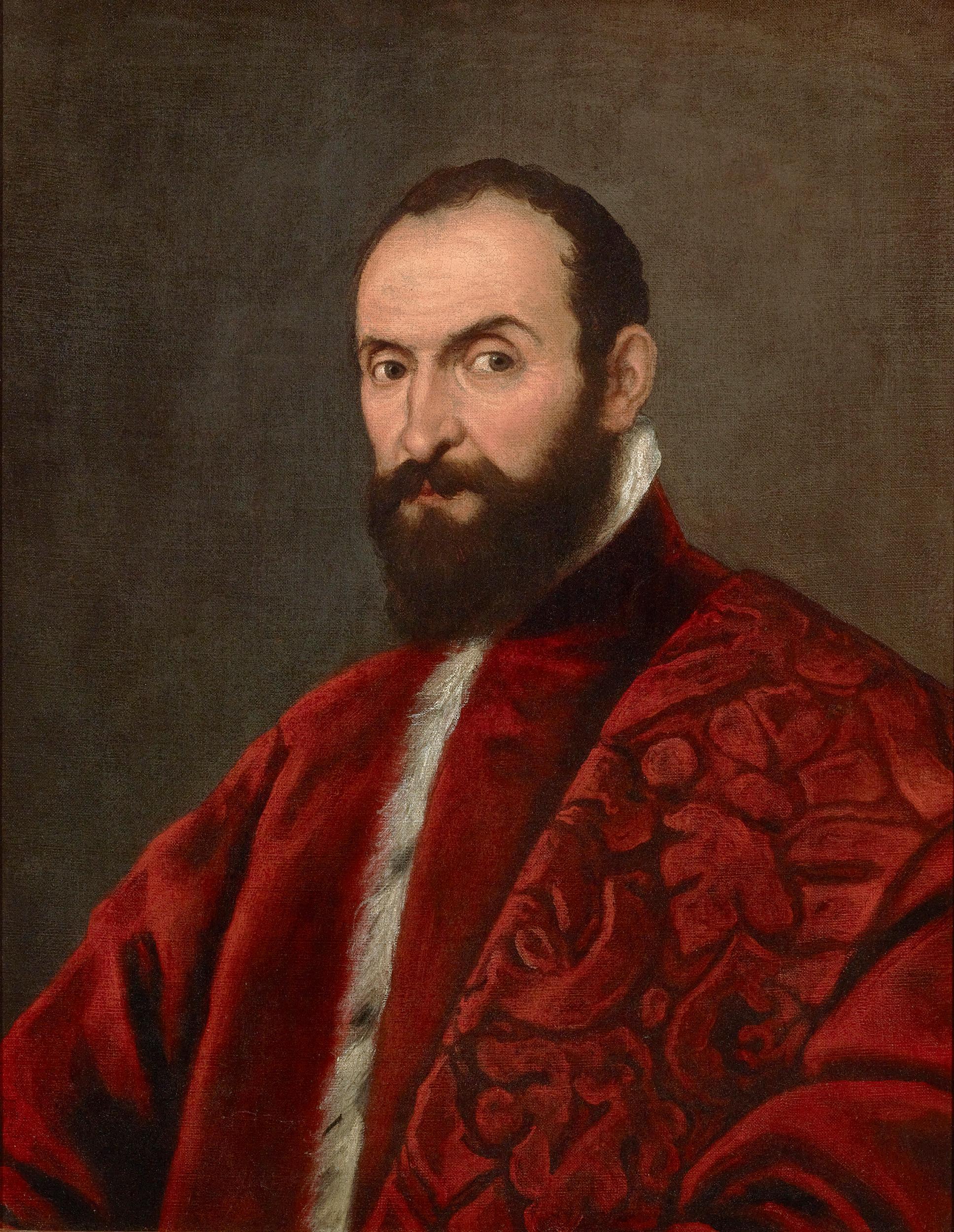Portrait of a Venetian Senator attributed to Domenico Tintoretto