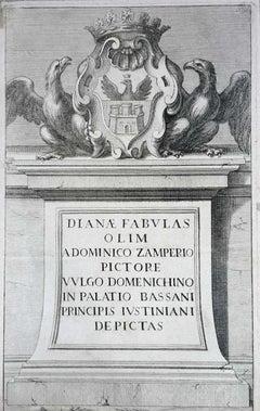 Herald of the Giustiniani Family - Etching by Domenichino  - 17th Century