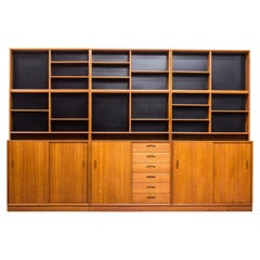 """Domi"" Teak Bookshelves by Nils Jonsson for Troeds, Sweden, 1950s"