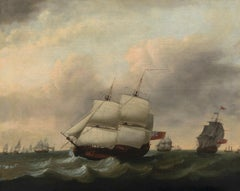 Dominic Serres 1722-1793 - A warship in full sail