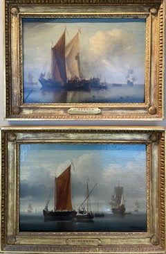 Stunning Pair of 18th Century Marines By Dominic Serres - Dolphins Included!!!