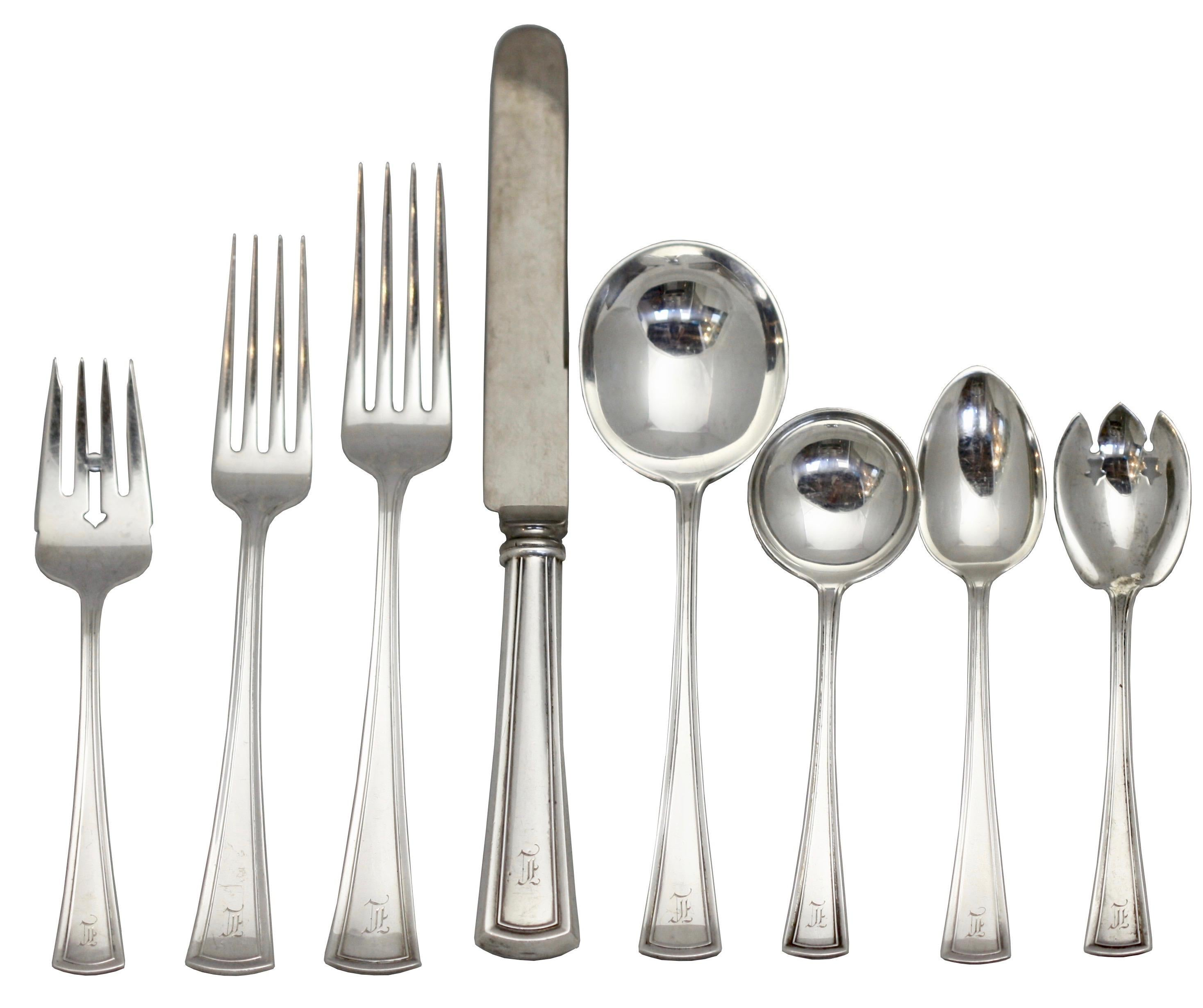 """Blossom by Dominick and Haff Sterling Silver Dinner Fork 7 5//8/"""" Flatware"""