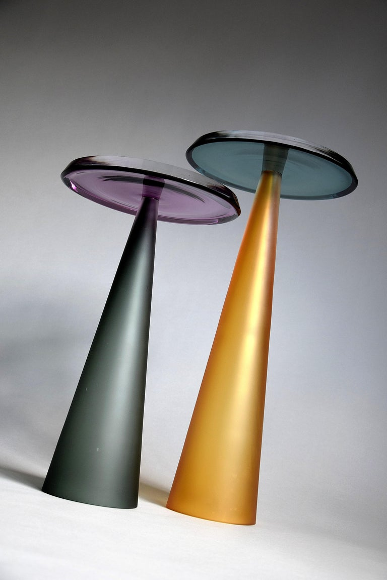 Dominio Contemporary Hand Blown Glass Side Table In New Condition For Sale In Weesp, NL