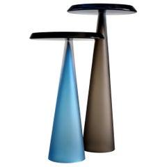 Dominio Contemporary Hand Blown Glass Side Table