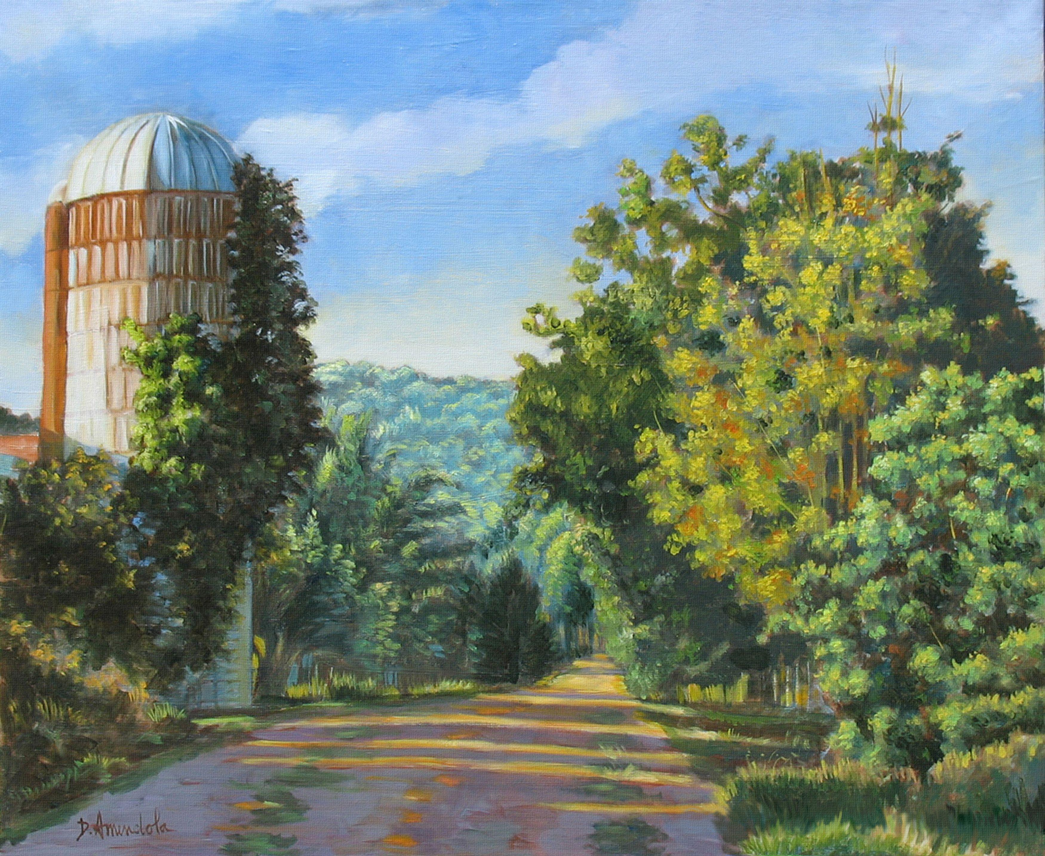 A walk in Vermont, Painting, Oil on Canvas
