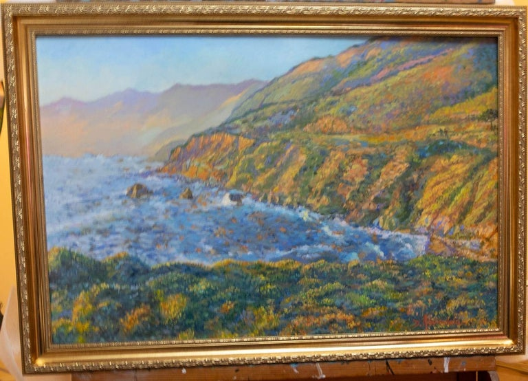 Carmel Coast Sunset, Painting, Oil on Canvas For Sale 4