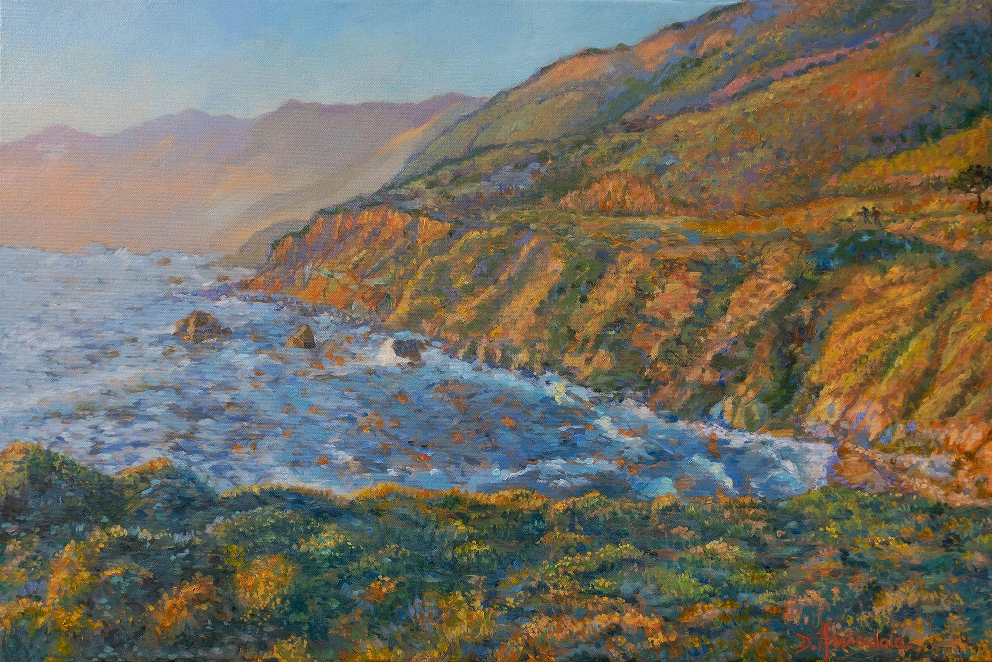 Carmel Coast Sunset, Painting, Oil on Canvas