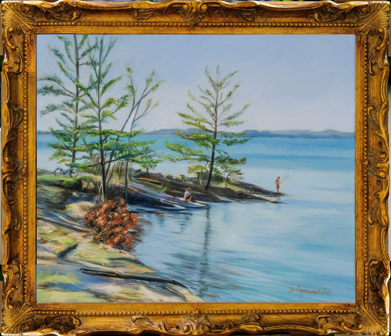 Lake Champlain, Painting, Oil on Canvas For Sale 1