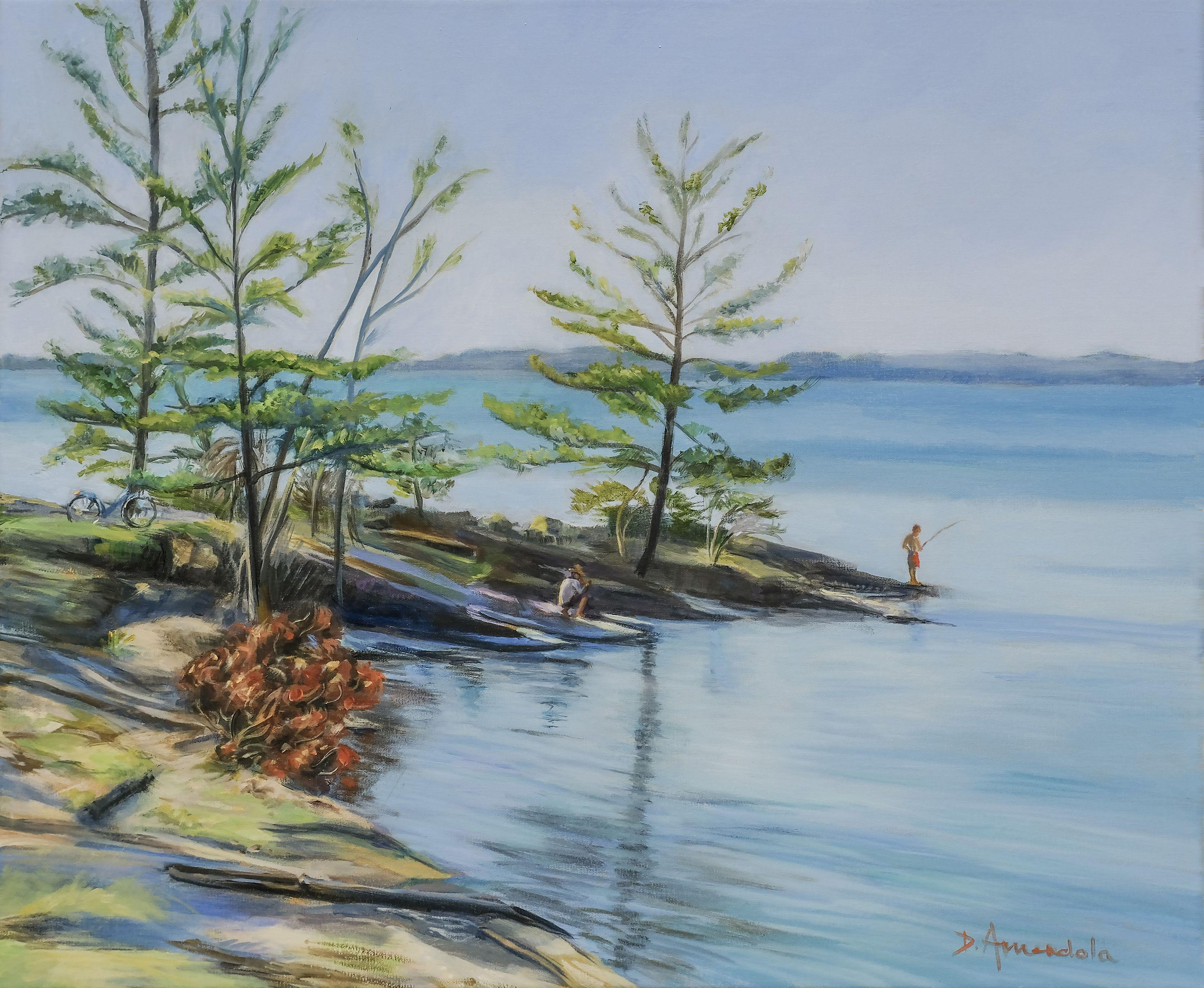 Lake Champlain, Painting, Oil on Canvas