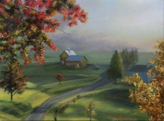 New England Landscape, Painting, Oil on Canvas