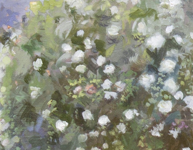 Roses In A Garden, Painting, Oil on Canvas For Sale 1