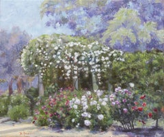 Roses In A Garden, Painting, Oil on Canvas
