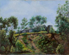 The old farm, Painting, Oil on Canvas