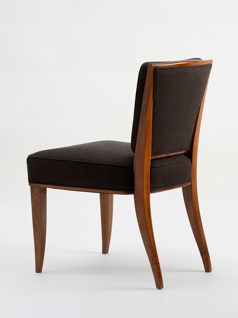 A beautiful side chair by André Domin and Marcel Genevrière, made in France in late 1940s.