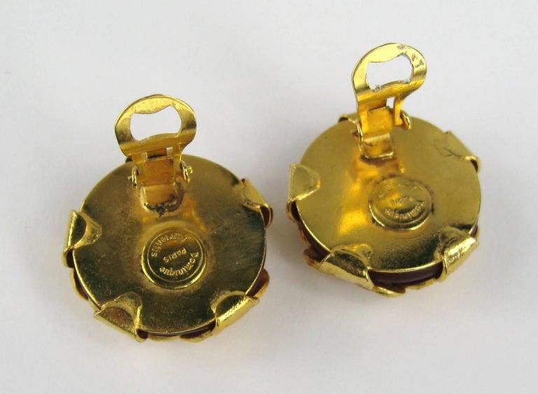 Women's  Dominique Aurientis Gripoix Glass earrings New, Never Worn 1980s For Sale