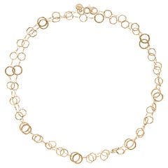 Dominique Cohen 18 Karat Gold Classic Opera Chain Necklace