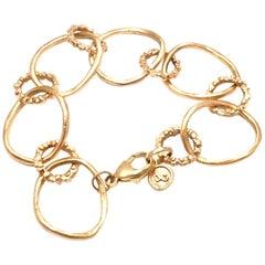 Dominique Cohen Buddha Link Yellow Gold Bracelet