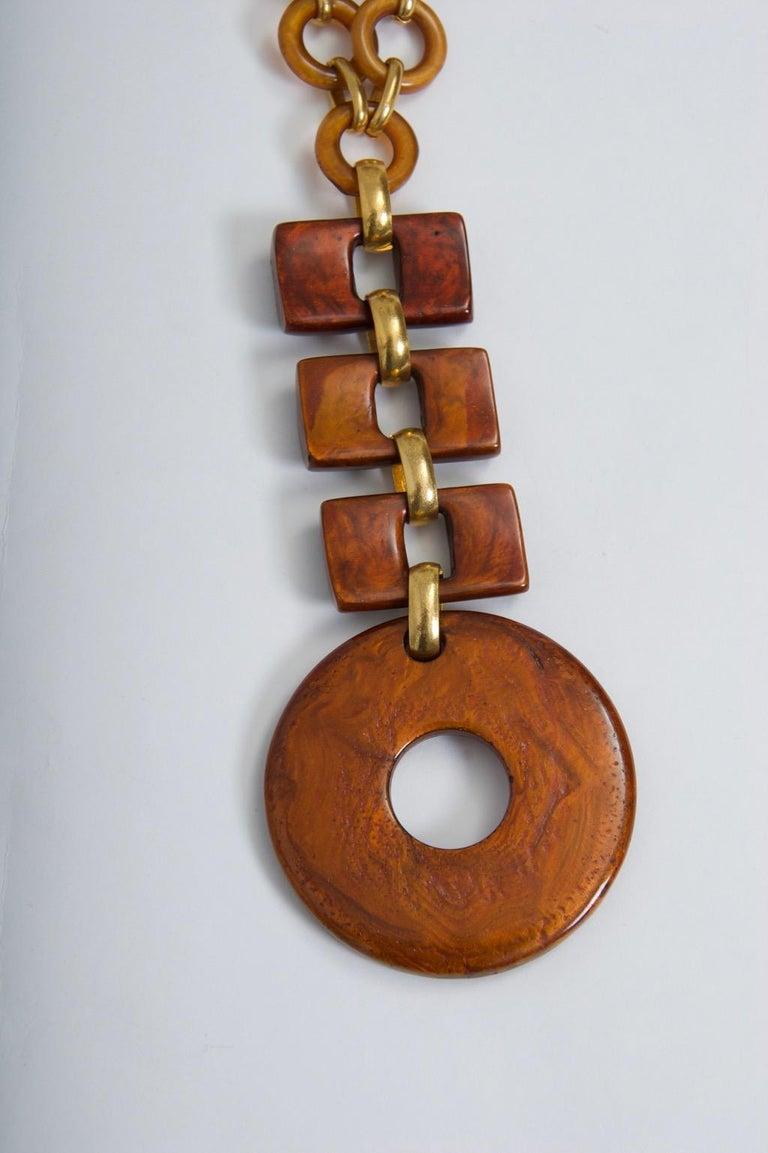 Modern Dominique Denaive Resin Necklace For Sale
